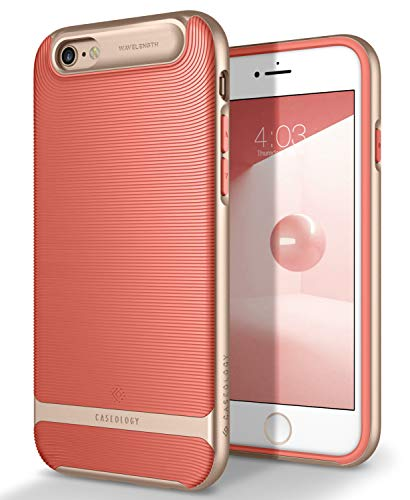 Caseology Wavelength Series Textured Pattern Grip Cover for iPhone 6S Plus and iPhone 6 Plus - Coral Pink