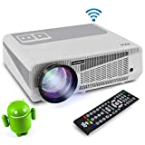 Full HD 1080p Hi-Res Mini Portable Smart Video Cinema Home Theater Projector - Built-In Dual Core Android Computer, WiFi Wireless Multimedia, LCD+LED, HDMI & USB Inputs for Blu Ray PC Laptop & TV