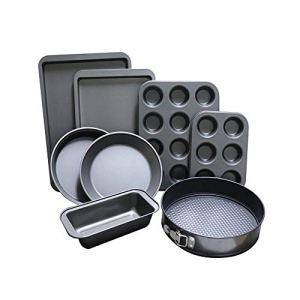 ShellStone 8-Piece Non Stick Bakeware Set Baking Set- with Muffin Tray, Oven Tray, Cake Pan, Loaf Pan & Spring Form Cake Tin 41ww3tjuyXL