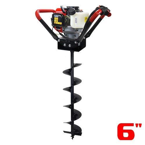 "XtremepowerUS V-Type 55CC 2 Stroke Gas Post Hole Digger 3/4"" Shaft 1-Man Auger Powerhead (Digger + 6"" Bit) EPA Motor"