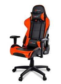 Arozzi VERONA-V2-OR Advanced Racing Style Gaming Chair with High Backrest, Recliner, Swivel, Tilt, Rocker and Seat Height Adjustment, Lumbar and Headrest Pillows Included, Orange