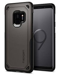 Spigen Hybrid Armor Galaxy S9 Case with Air Cushion Technology and Secure Grip Drop Protection for Samsung Galaxy S9 (2018) - Gunmetal