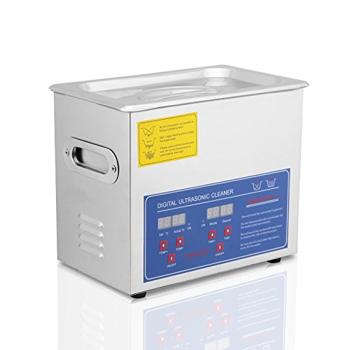 Mophorn Ultrasonic Cleaner Stainless Steel 3 L Commercial Ultrasonic Cleaner 120W Ultrasonic Power Ultrasonic Cleaner Heater Digital Timer and Temperature Display