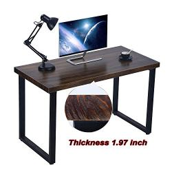 Environmentally Solid Wood Office Desk Industrial 47″ Large Size Office Workstations Computer Writing Tables Furniture High Grade Retro Home Office Collection Furniture,Easy to Assemble