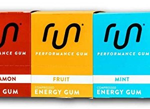 Caffeine Energy Gum 50mg Caffeine Taurine & B-Vitamins Per Piece coffee / Energy drink, Quick Energy Boost By RUN GUM