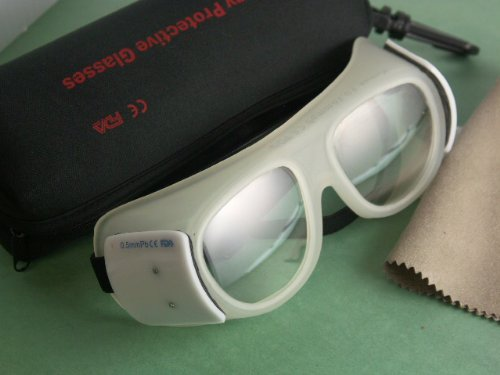 Lead Glasses Goggles for X-ray Radiation Protection , Front 0.75mmpb, 0.35mmpb side with Wipe and Case Style H