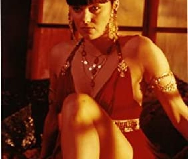 Xena Lucy Lawless Sexy Red Dress Photo X Licensed Amazon Ca