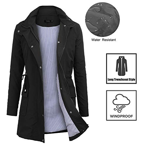 FISOUL Raincoats Waterproof Lightweight Rain Jacket Active Outdoor Hooded Women's Trench Coats 2 Fashion Online Shop gifts for her gifts for him womens full figure
