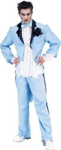 Paper Magic Men's Zombie Prom King-2 Costume, Blue/White, M