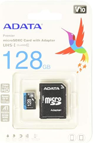 41xAn7Nq 5L. AC  - ADATA RAM-3040 Memoria Micro SDHC/SDXC Uhs-I 128GB Clase 10 A1 85Mb/Seg C/Adaptador #Amazon
