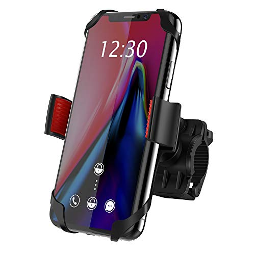 Bike Mount, Ipow Universal Cell Phone Bicycle Rack Handlebar & Motorcycle Holder Cradle Compatible with iPhone Xs Max XR X 8 7 6 5 Plus Samsung Galaxy S9 S8 S7 S6 S5 Note 9 8 7 6, Motorola, Nexus, LG