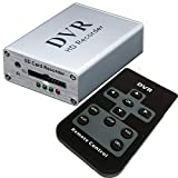 Coomatec Mini DVR Support SD Card Real-time Digital Video Recorder for FPV and Vehicle HD Mini 1 Channel MPEG-4 Video