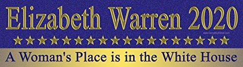 Elizabeth Warren 2020 A Woman's Place is in the White House Bumper Sticker