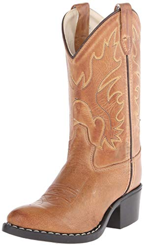 Old West Kids Boots J Toe Western Boot (Big Kid), Tan Canyon, 4.5 M