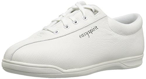 Easy Spirit AP1 Sport Walking Shoe, White Leather, 8.5 M