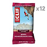 CLIF BAR - Energy Bar - Berry Pomegranate Chia - (2.4 Ounce Protein Bar, 12 Count)