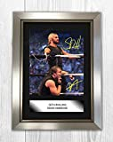 Engravia Digital Seth Rollins & Dean Ambrose WWE Poster Reproduction Autograph Picture Photo A4 Print(Silver Frame)