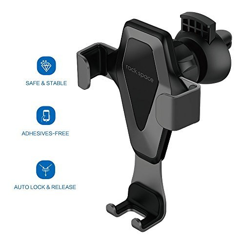 Car Cell Phone Holder - Hands-free Cell Phone Holder for Car, Air Vent Car Phone Mount with Auto Lock and Auto Release for iPhone X/8/7/7Plus/6s/6Plus, Samsung Galaxy/S8/S7/S6/Note 5, Nexus 6, etc.