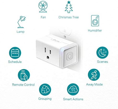 Kasa Smart Plug HS103P2, Wi-Fi Outlet works with Alexa, Echo and Google Home &IFTTT, No Hub Required, Remote Control, 15 Amp, UL Certified, 2-Pack 14