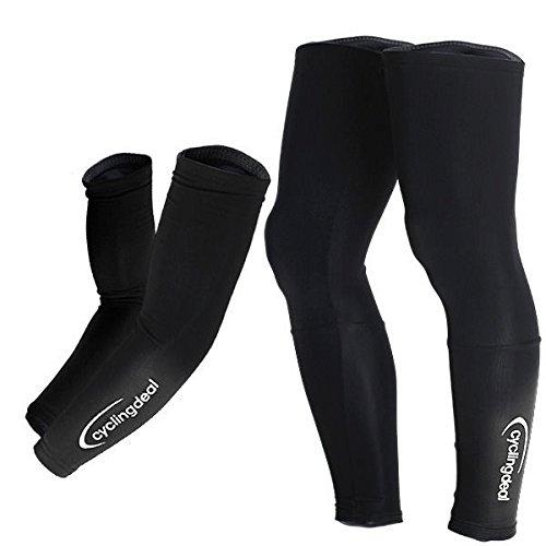 Cycling Bicycle Bike Arm & Leg Warmers Size L