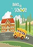 Wamika Back to School Bus Autumn Garden Yard Flag Banner House Home Decor 12 x 18 inch, Schoolhouse Small Mini Decorative Double Sided Welcome Flags for Holiday Wedding Party Outdoor Outside