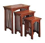 3-piece Nesting Table Set Warm Brown