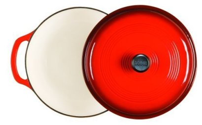 Lodge-Enameled-Cast-Iron-Dutch-Oven-With-Stainless-Steel-Knob-and-Loop-Handles-6-Quart-Red