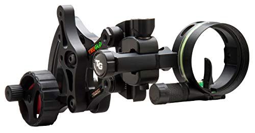TRUGLO RANGE-ROVER Series Single-Pin Moving Bow Sight, Black, Right-Handed, .019' Pin, Toolless Micro-Adjustable Windage