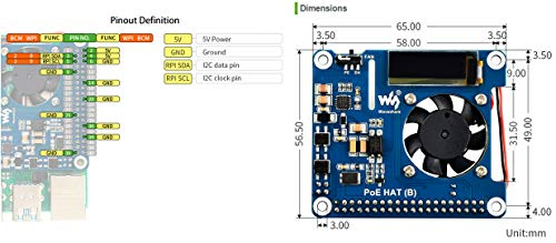 waveshare-POE-HAT-B-for-Raspberry-Pi-4B3BPower-Over-Ethernet-HATSupport-8023af-PoE-Network8023af-Power-Sourcing-Equipment-Required
