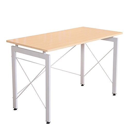 HOMCOM 47' Office Workstation Computer Table Desk - Cream