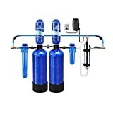 Aquasana Whole House Well Water Filter System w/ UV Purifier & Salt-Free Descaler - Filters Sediment & 97% Of Chlorine - Carbon & KDF Home Water Filtration - 500,000 Gl