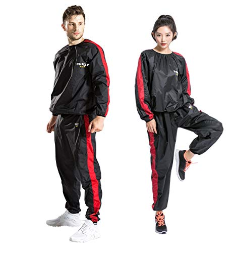 DNRZY F.I.T Fitness Sweat Sauna Suits for Men and Women Weight Loss Unisex Anti-Rip Sport Suits Running Slimming Sauna Suit for Lose Weight Fat Burner Sweat Workout Clothes Durable Long Sleeves