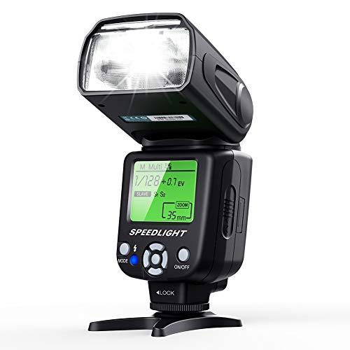 Flash Speedlite for Canon Nikon Olympus Pentax,ESDDI Cameras Flash,LCD Display,Multi,DSLR and Digital Cameras with Standard Hot Shoe