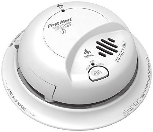 BRK First Alert SC9120B Hardwire Combination Smoke/Carbon Monoxide Alarm with Battery Backup 4 Pack