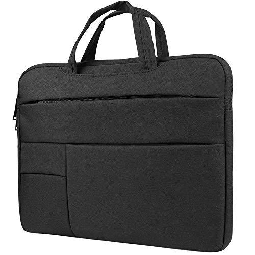 Briefcase Laptop Bag Sleeve for HP ChromeBook, Stream, ProBook, Mobile Thin Client, Essential, Elitebook, Zbook, Pavilion 14 inch, Gaming Business Work School Men Women to 14.1 inch Laptops, Black
