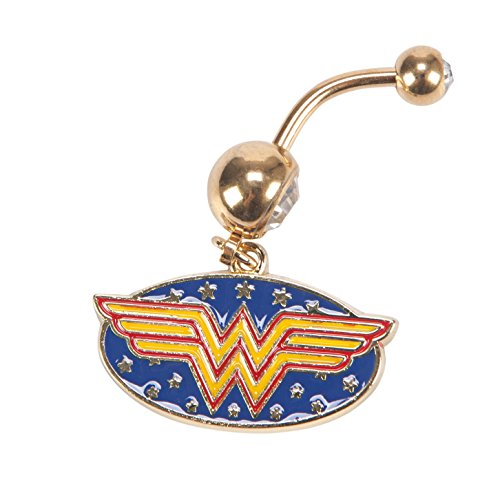 DC Comics Wonder Woman 14G Stainless Steel Belly Button Ring