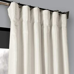 Vintage Off White Faux Dupioni Curtains