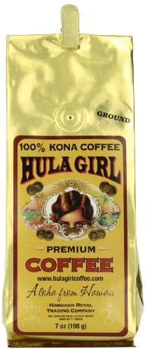 Hula Girl 100% Kona Coffee Wb, 7-Ounce