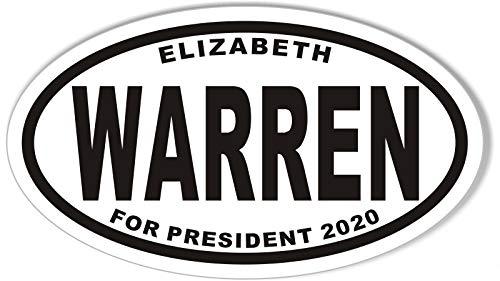 Elizabeth Warren for President 2020 Oval Bumper Sticker