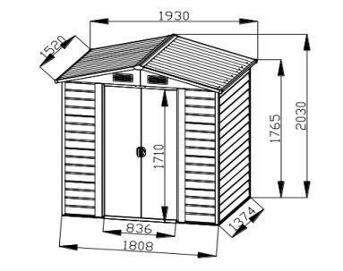 Bestmart-INC-6×5-Storage-Shed-Large-Backyard-Outdoor-Garden-Garage-Tool-Kit-Building-Wood-Color