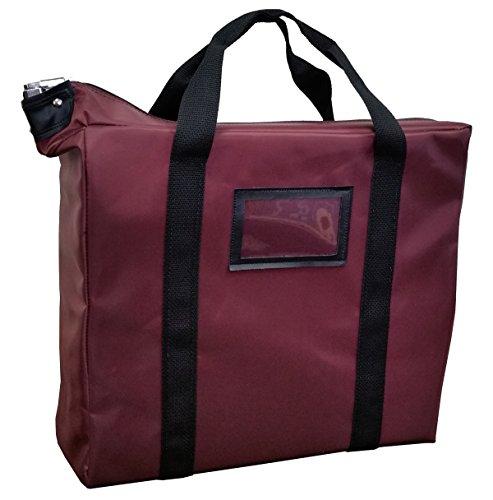 Briefcase Style Locking Document Bag (Burgundy)