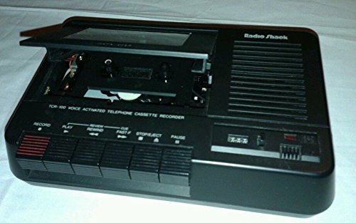 Radio Shack Telephone Cassette Recorder Voice Activated Tcr-100 43-273