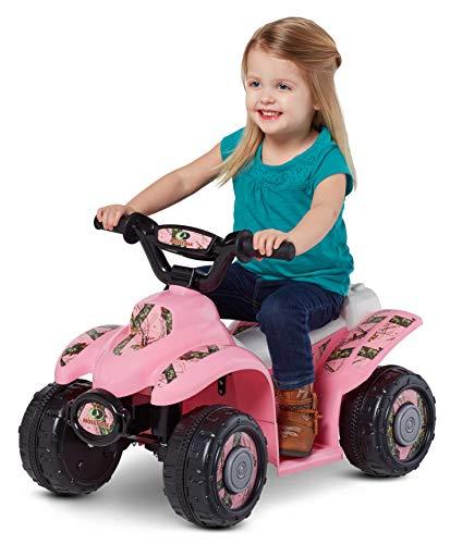 6V Stylish, Durable, Mossy Oak Quad Ride-On, Pink Camo