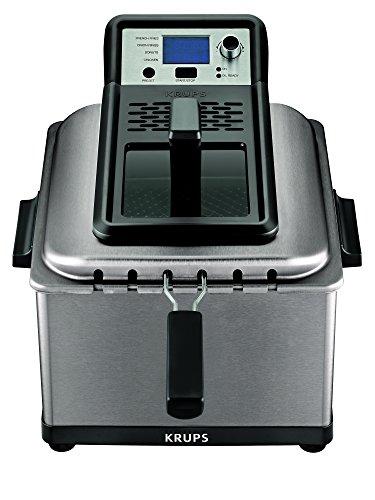 KRUPS 8000035750, Electric Deep, Stainless Steel Triple Basket Fryer, 4.5 Liter, Silver