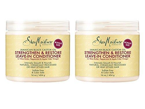 Shea Moisture Strengthen & Restore Leave-In Conditioner, 16 Ounce (Pack of 2)