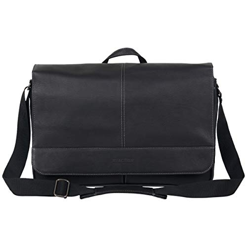 Kenneth Cole Reaction Come Bag Soon Leather 15.6' Messenger Laptop, Black One Size