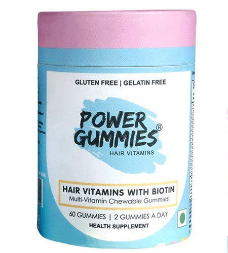 Power Gummies Hair Vitamin with Biotin (Blue)-60 1  Power Gummies Hair Vitamin with Biotin (Blue)-60 41yUeMjIy 2BL