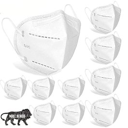 Pro-Ensure24 N95 Reusable Washable Mask Anti Air Pollution Anti Dust Face Mask With 5 Layer For Men Women (White…