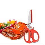 Vivavivo1234 Crab Crackers Tools Lobster Crab Shell Leg Seafood Peeler Shellfish Cracker Shrimp Tool Prawn Scissor Shear Snip Kitchen