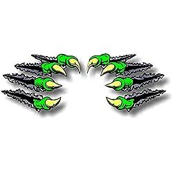 """2 Beast Claws Break Through Ripping Thru Metal 11.5"""" Vinyl Sticker Decals Monster Dinosaur Scratches Decal Stickers"""